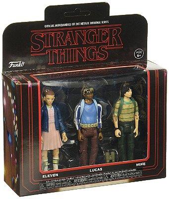 Funko Stranger Things 3 Pack: Eleven, Lucas e Mike