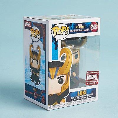 Funko Pop Marvel Thor Ragnarok 248 Loki with Helmet Exclusive