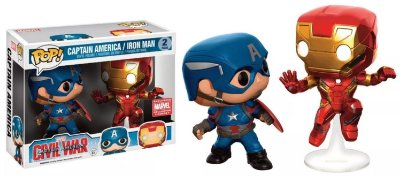 Funko Pop Marvel Civil War 2-Pack Captain America & Iron Man Exclusive