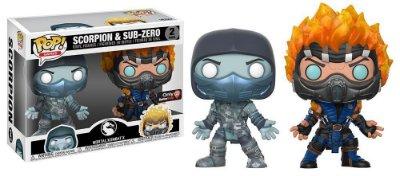 Funko Pop Mortal Kombat 2-pack Scorpion e Subzero Exclusive