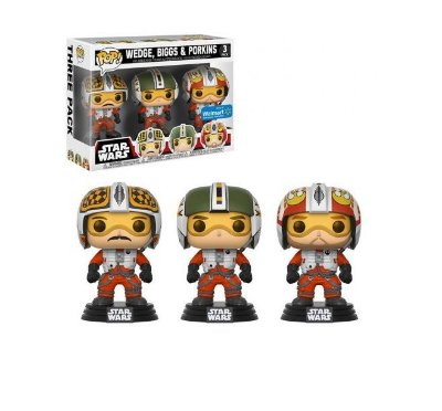 Funko Pop Star Wars 3-Pack Biggs, Wedge e Porkins