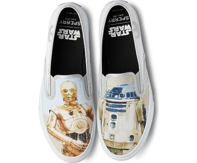 Tênis Cloud Slip On Droids Sperry Sneaker R2d2 C3PO