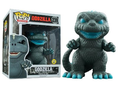 Funko Pop Godzilla 239 Exclusive Supersized Glow in the Dark