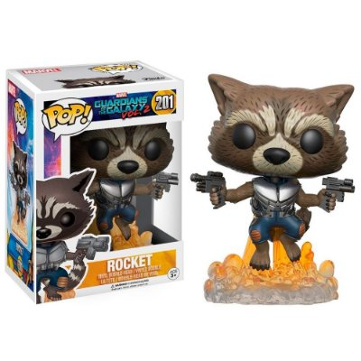 Funko Pop Guardians of the Galaxy 201 Rocket Exclusive