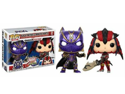 Funko Pop Marvel Vs Capcom Black Panther Vs Monster Hunter
