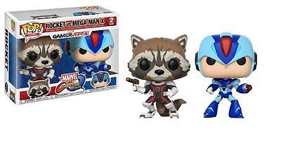 Funko Pop Marvel vs. Capcom Rocket vs Mega Man X
