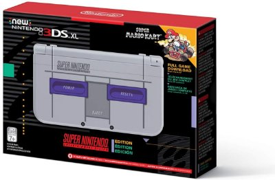 New Nintendo 3DS XL Super NES Edition c/ Mario Kart