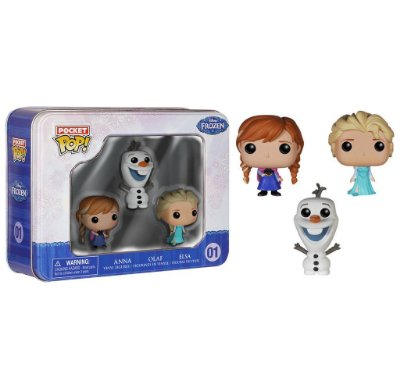 Funko Pop Pocket Kit Frozen: Elsa, Anna e Olaf