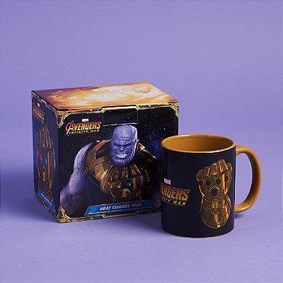 Caneca Vingadores Infinity War Thanos Mug Ativada c/ Calor