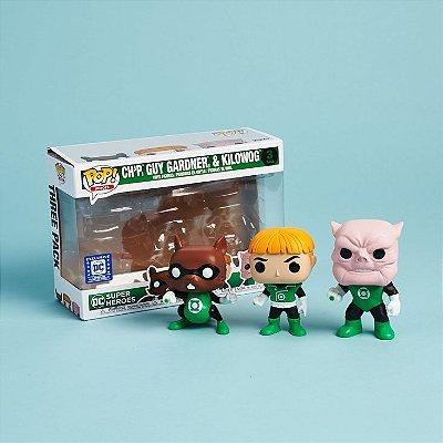 Funko Pop DC Green Lantern Chp, Guy Gardner e Kilowog
