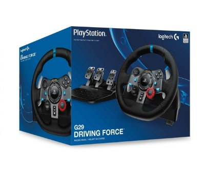 Volante c/ Pedais Logitech G29 Driving Force - PS4, PS3 e PC