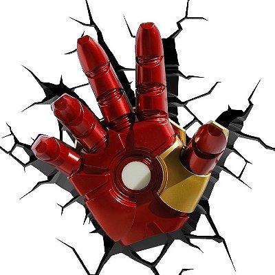 Luminária Punho Homem de Ferro Iron Man Hand Avengers 3D Deco Light