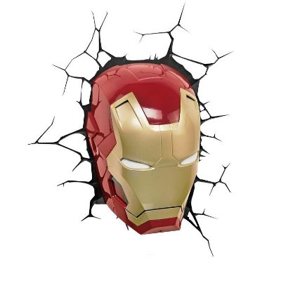 Luminária Máscara Homem de Ferro 3D Light FX Iron Man 3 Avengers