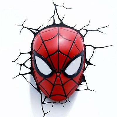 Luminária Máscara Homem Aranha Spiderman 3d Art Avengers