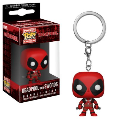 Chaveiro Funko Pocket Pop Deadpool With Swords