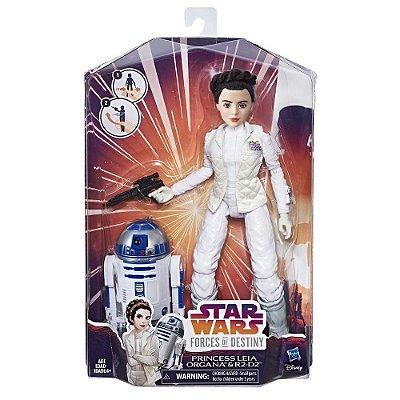 Star Wars Forces of Destiny Princesa Leia Organa e R2-D2