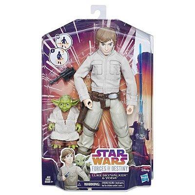 Star Wars Forces of Destiny Luke Skywalker e Yoda