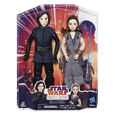 Star Wars Forces of Destiny Rey e Kylo Ren