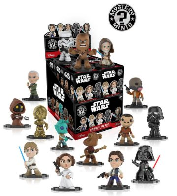 Funko Mystery Mini Star Wars Bobble-Heads - 1 Boneco Misterioso