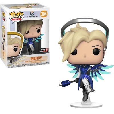 Funko Pop Overwatch 304 Mercy Cobalt Gamestop Exclusive