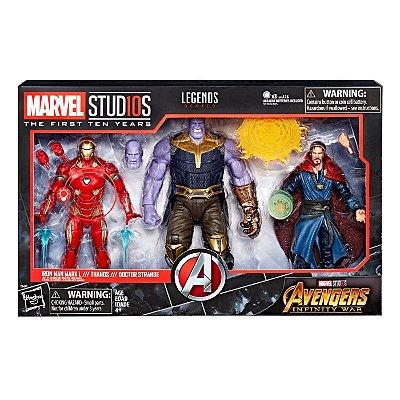 Marvel Avengers Infinity War Iron Man Thanos Dr. Strange 3pk