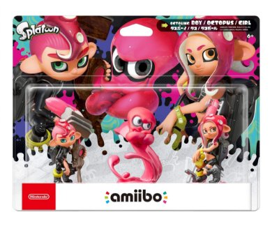 Amiibo Splatoon Series Octoling 3-pack