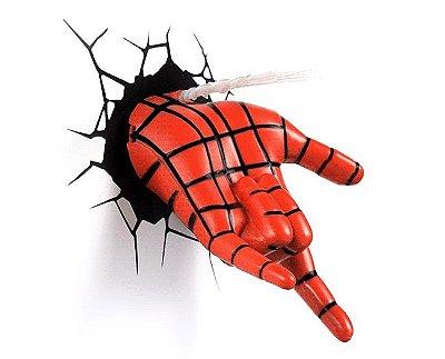 Luminária Mão do Homem Aranha Spiderman 3d Art Avengers