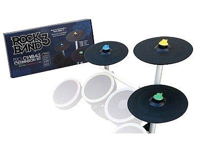 Rock Band 3 Pro Cymbals Expansion Drum Pratos Bateria