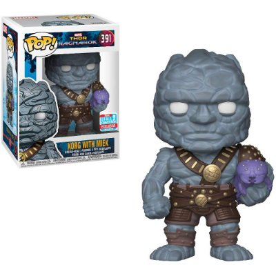 Funko Pop Thor Ragnarok 391 Korg with Miek Exclusive