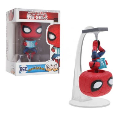 Funko Pop Spider-Man Homecoming 259 Spider-Man With Book