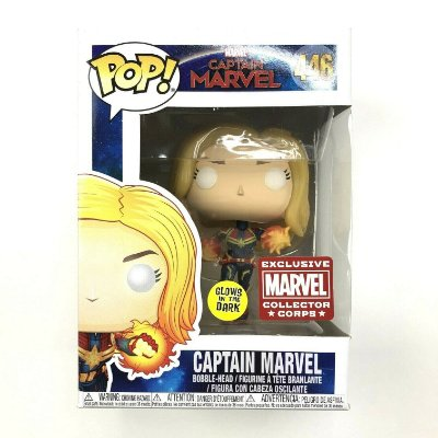 Funko Pop Captain Marvel 446 Flight Glows In Dark