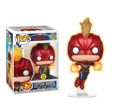 Funko Pop Captain Marvel 433 Flying Glows in The Dark