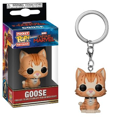 Chaveiro Funko Pocket Pop Captain Marvel Goose The Cat