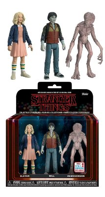 Funko Stranger Things 3 Pack: Eleven, Will e Demogorgon Exclusive