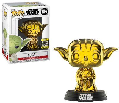 Funko Pop Star Wars 124 Yoda Gold Galactic Convention 2019