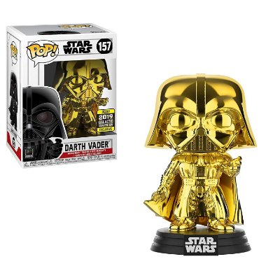 Funko Pop Star Wars 157 Darth Vader Gold Chrome Exclusive