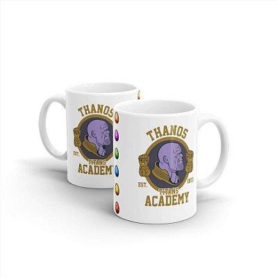 Caneca Mug Cerâmica Marvel Thanos Academy