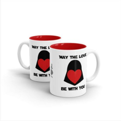 Caneca Mug Cerâmica Darth Vader May The Love
