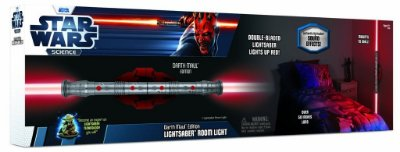 Luminária Star Wars Remote Control Lightsaber Darth Maul
