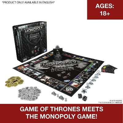 Monopoly Game of Thrones Board Game Hasbro (Inglês)