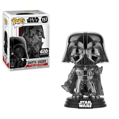 Funko Pop Star Wars 157 Darth Vader Black Chrome Exclusive
