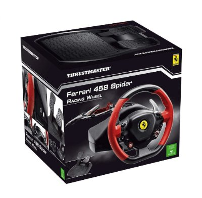 Volante c/ Pedais Thrustmaster Ferrari 458 Spider Racing Wheel - Xbox One / PC