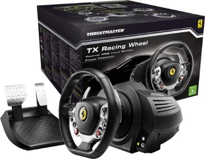 Volante c/ Pedais Thrustmaster TX RW Racing Ferrari 458 Italia Ed T300 Xbox One e PC