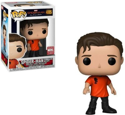 Funko Pop Spider-Man Far from Home 485 Spider-Man Borrowed Jersey