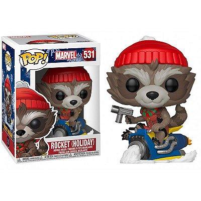 Funko Pop Marvel 531 Rocket Holiday On Sled
