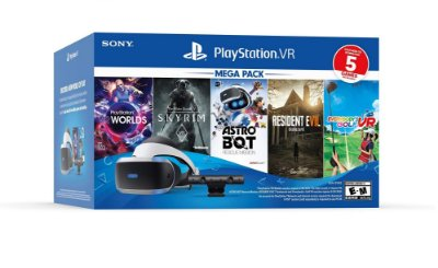 Playstation VR Bundle Five Game Mega Pack ZVR2 - PS4