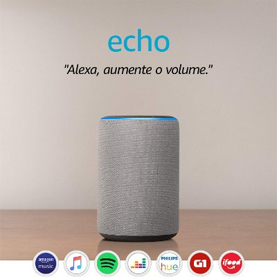 Amazon Echo 3ª Geração Smart Speaker c/ Alexa Gray - Cinza