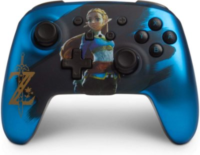 Controle PowerA Enhanced Wireless Satin Blue Chrome Zelda - Switch