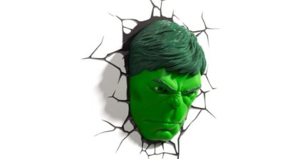 Luminária Rosto do Hulk Face 3d Light Fx Avengers  MARVEL