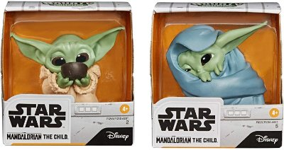 Star Wars The Mandalorian Baby Yoda Sipping Soup Blanket-Wrapped Toy 2pack